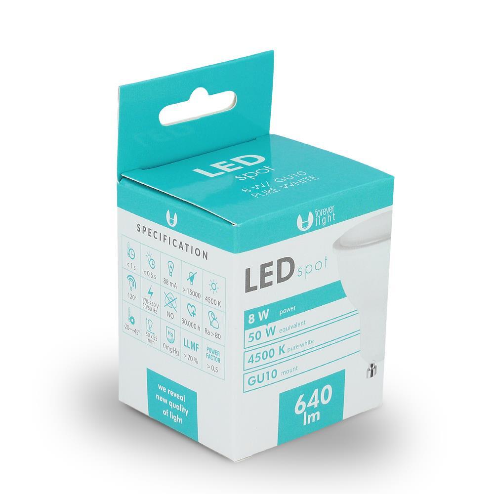 LED žárovka Forever GU10 8W bílá