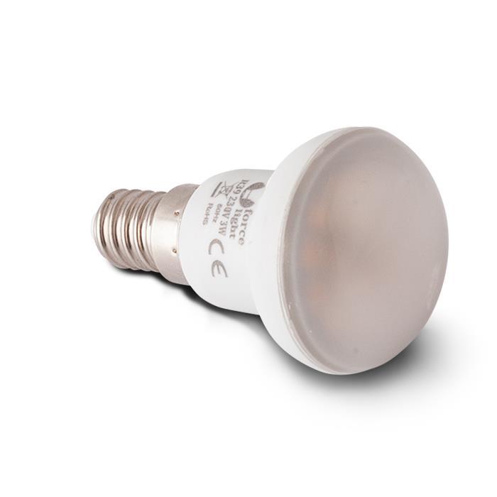 LED ŽÁROVKA E14 R39 - 3W, 18 LED SMD 2835 (230V) TEPLÁ BÍLÁ