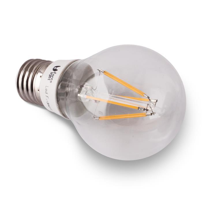 LED ŽÁROVKA E27 - 4W, A60, 4 LED - RETRO (230V) TEPLÁ BÍLÁ