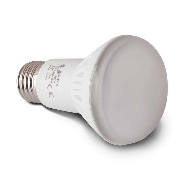 LED ŽÁROVKA E27 - 8W, R63, 16 LED SMD 2835 (230V) TEPLÁ BÍLÁ