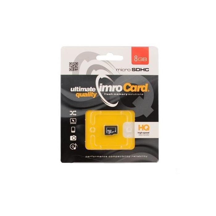 PAMĚŤOVÁ KARTA IMRO MICRO SD 8GB CLASS 10