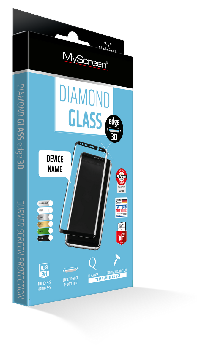 OCHR. FOLIE myScreen DIAMOND GLASS 3D Full Screen APPLE IPHONE X - ČERNÝ