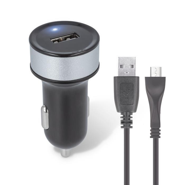 AUTODOBÍJEČ MICRO USB 1000mA ČERNÝ, TFO