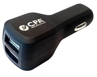 AUTODOBÍJEČKA PRÉMIUM S  2 x USB VÝSTUPEM (2,5 A)  - ČERNÝ