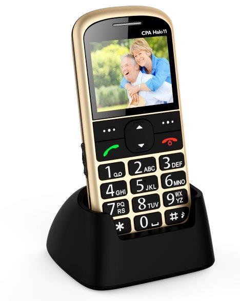 MOBILNÍ TELEFON CPA HALO 11 ZLATÝ