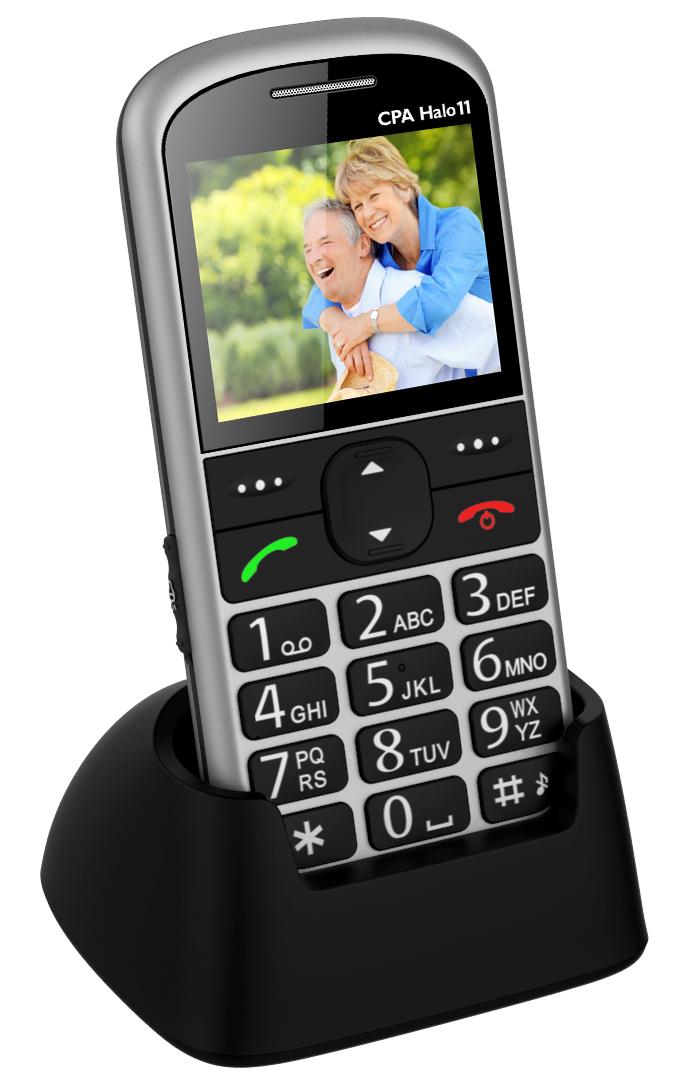MOBILNÍ TELEFON CPA HALO 11 STŘÍBRNÝ