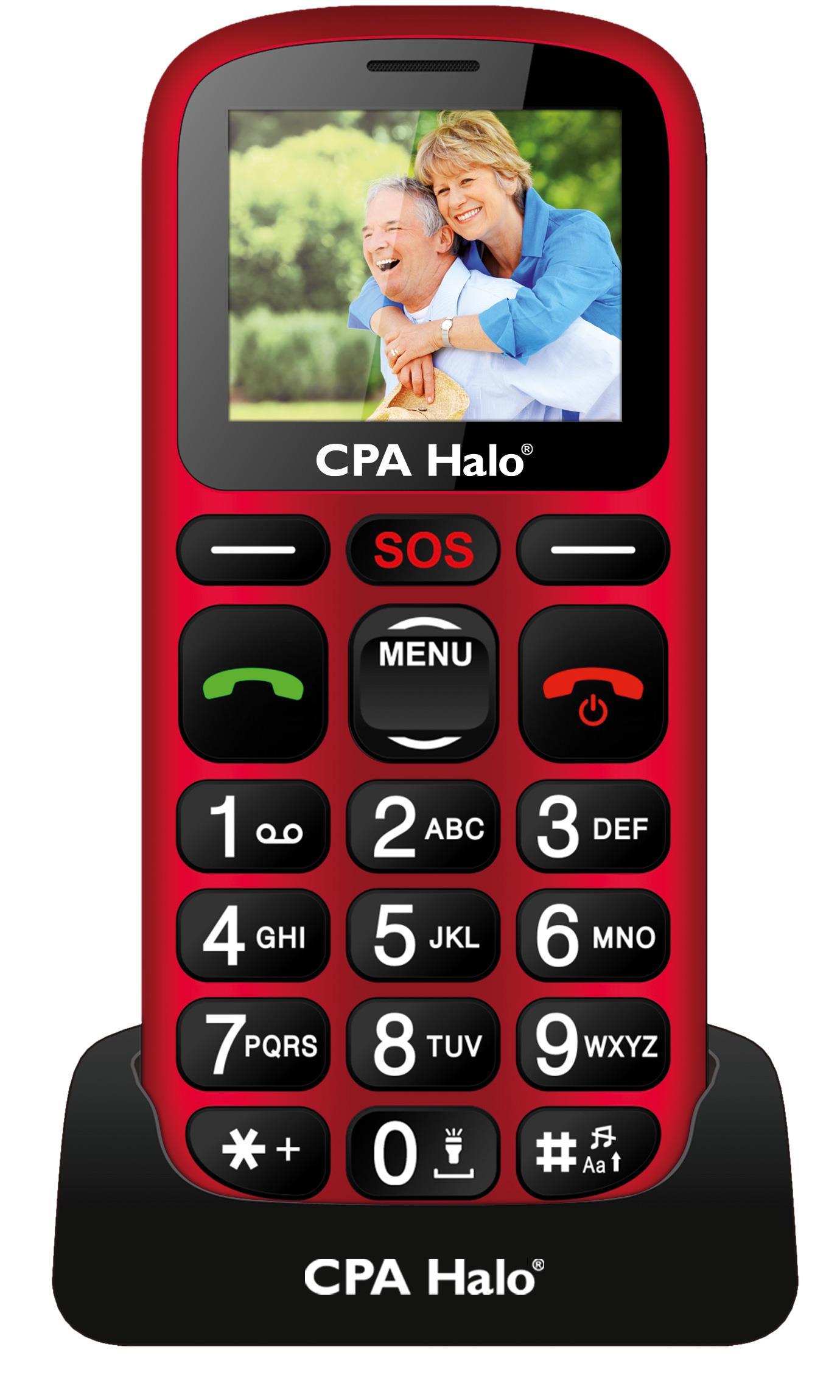 MOBILNÍ TELEFON CPA HALO 16 ČERVENÝ