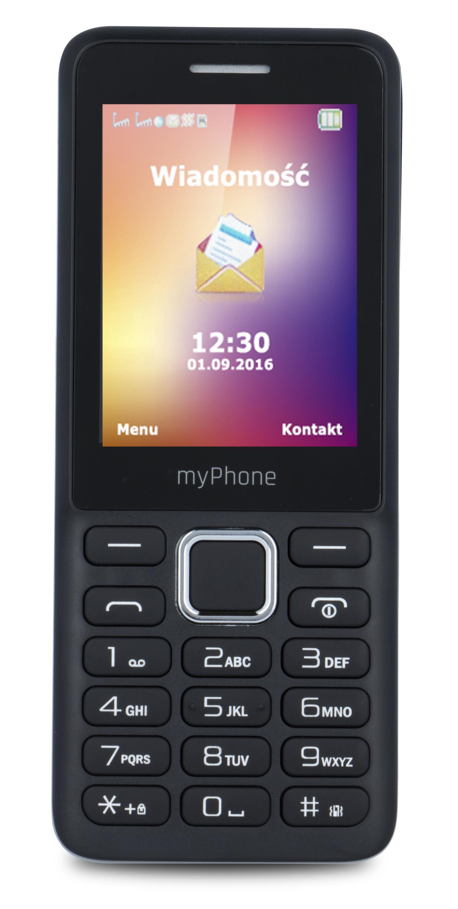 TELEFON DUAL SIM myPhone 6310 ČERNÝ