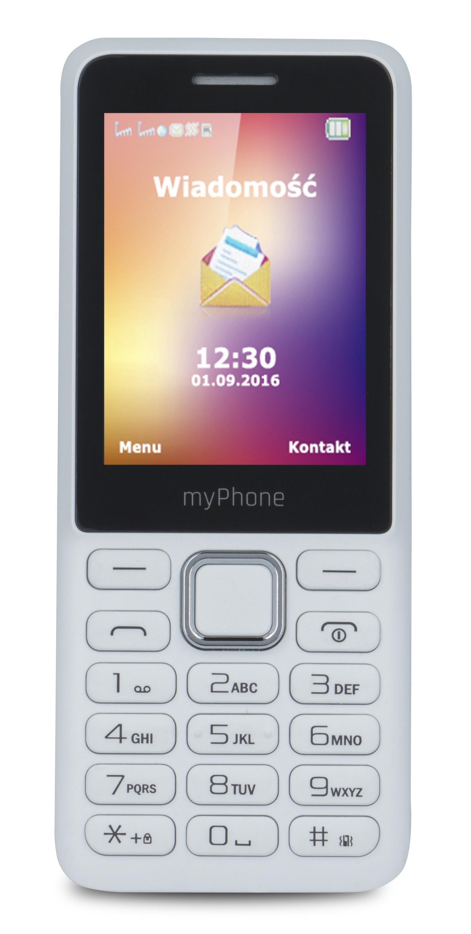 TELEFON DUAL SIM myPhone 6310 BÍLÝ