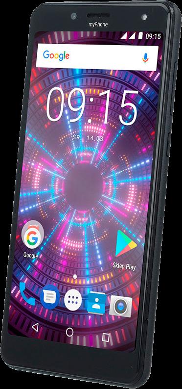 TELEFON DUAL SIM myPhone FUN 18x9 ČERNÝ