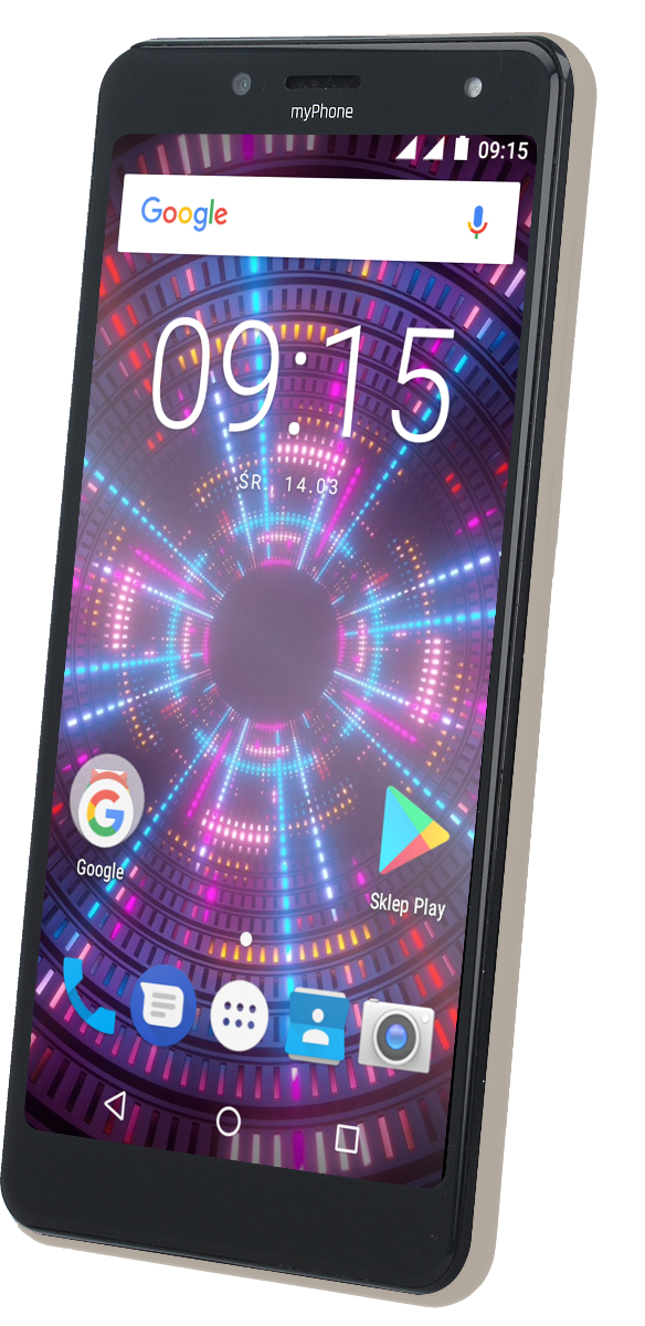 TELEFON DUAL SIM myPhone FUN 18x9 ZLATÝ