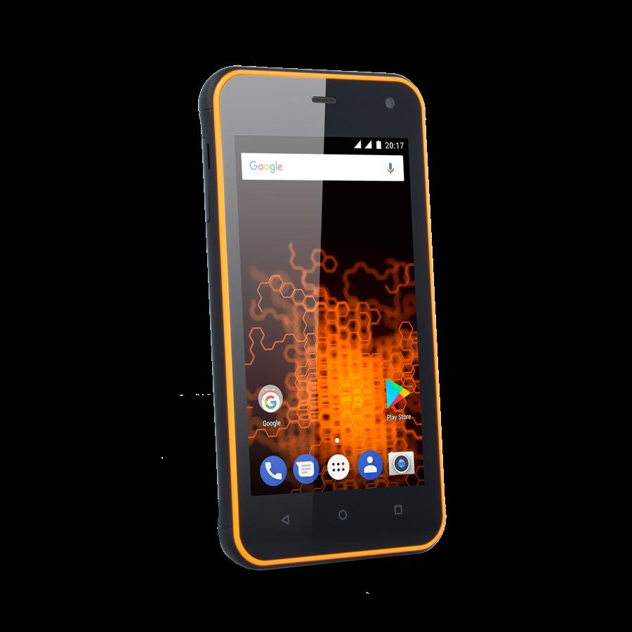 TELEFON DUAL SIM myPhone HAMMER ACTIVE ORANŽOVÝ