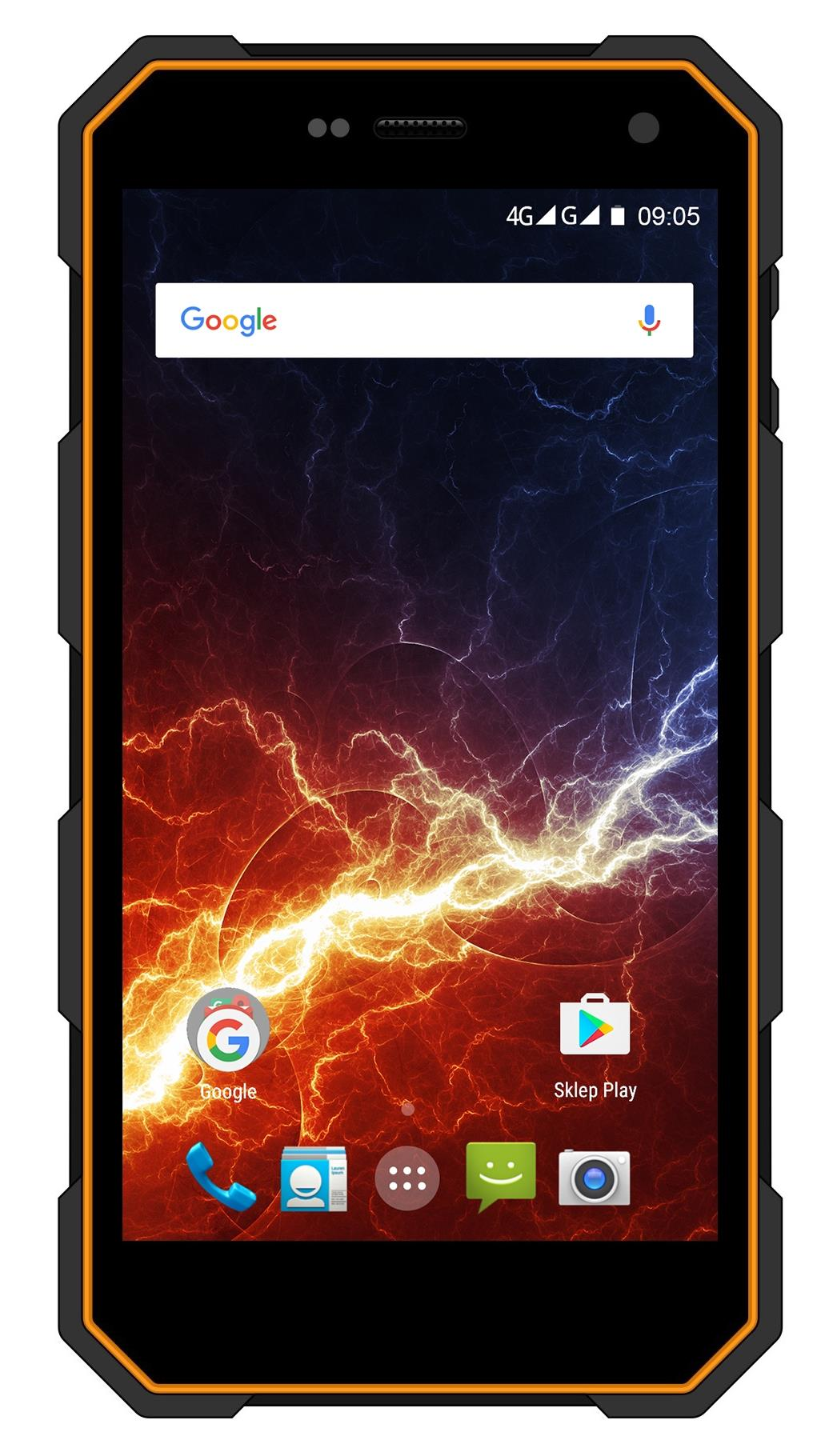 TELEFON DUAL SIM myPhone HAMMER ENERGY LTE ORANŽOVO-ČERNÝ