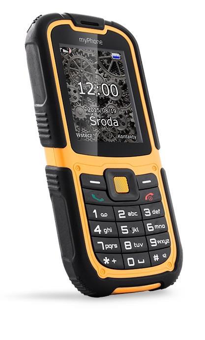 TELEFON DUAL SIM myPhone HAMMER 2 ORANŽOVO-ČERNÝ