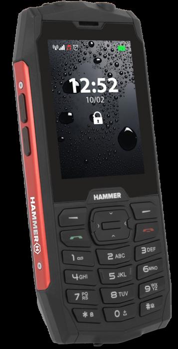 Mobilní telefon myPhone Hammer 4 červený