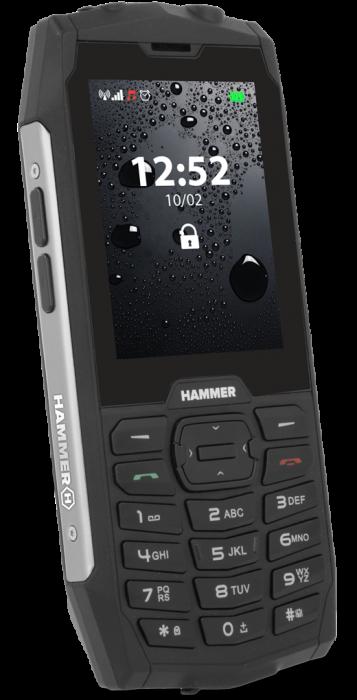 Mobilní telefon myPhone Hammer 4 stříbrný