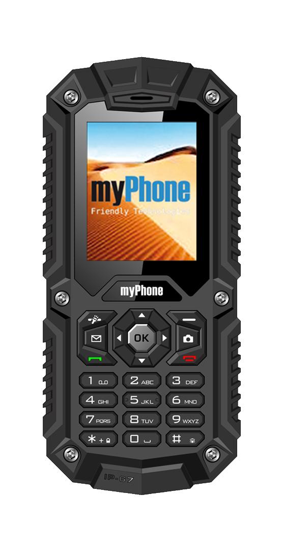 TELEFON DUAL SIM myPhone HAMMER ČERNÝ