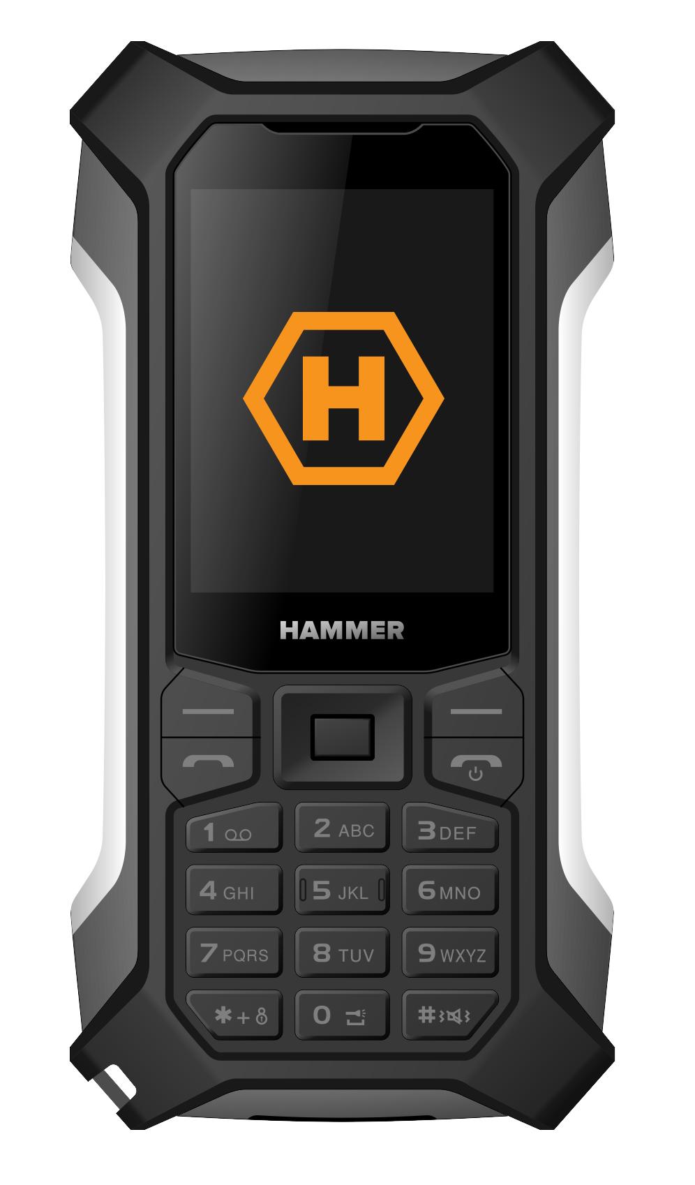 Mobilní telefon myPhone Hammer Patriot stříbrný