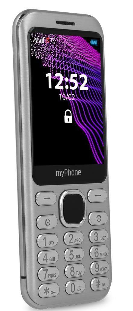 Mobilní telefon myPhone Maestro stříbrný