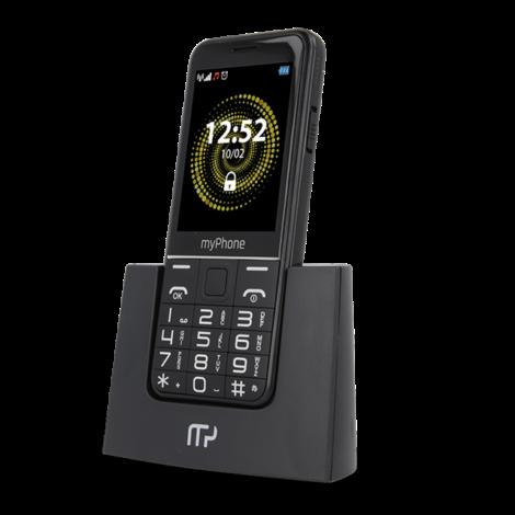 Mobilní telefon myPhone Halo Q černý s nabíjecím stojánkem
