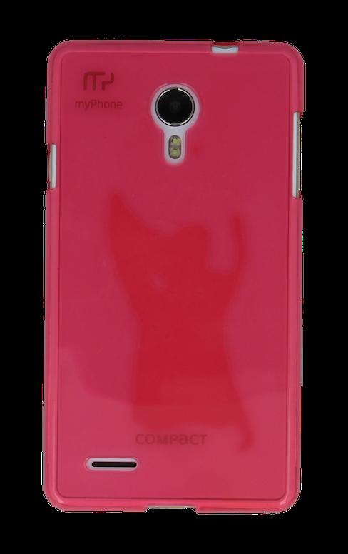 SILIKONOVÉ (TPU) POUZDRO TRANSPARENTNÍ SVĚTLE RŮŽOVÉ PRO myPhone COMPACT