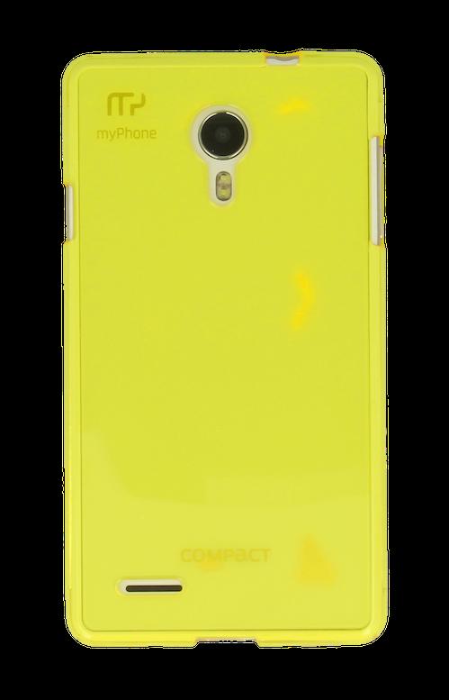 SILIKONOVÉ (TPU) POUZDRO TRANSPARENTNÍ ŽLUTÉ PRO myPhone COMPACT