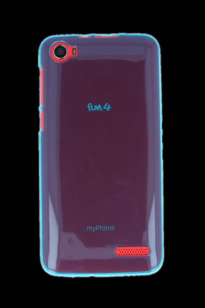 SILIKONOVÉ (TPU) POUZDRO TRANSPARENTNÍ TYRKYSOVÉ PRO myPhone FUN 4