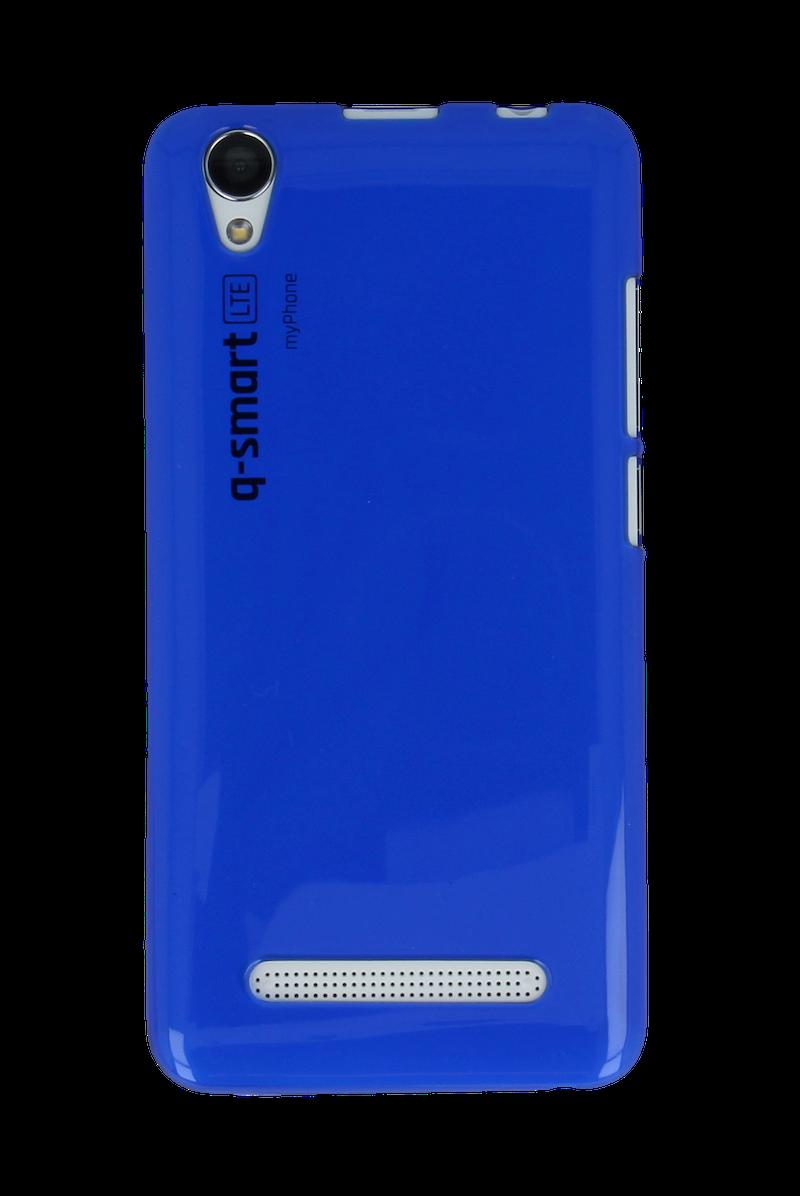 SILIKONOVÉ (TPU) POUZDRO TRANSPARENTNÍ MODRÉ PRO myPhone Q-SMART LTE