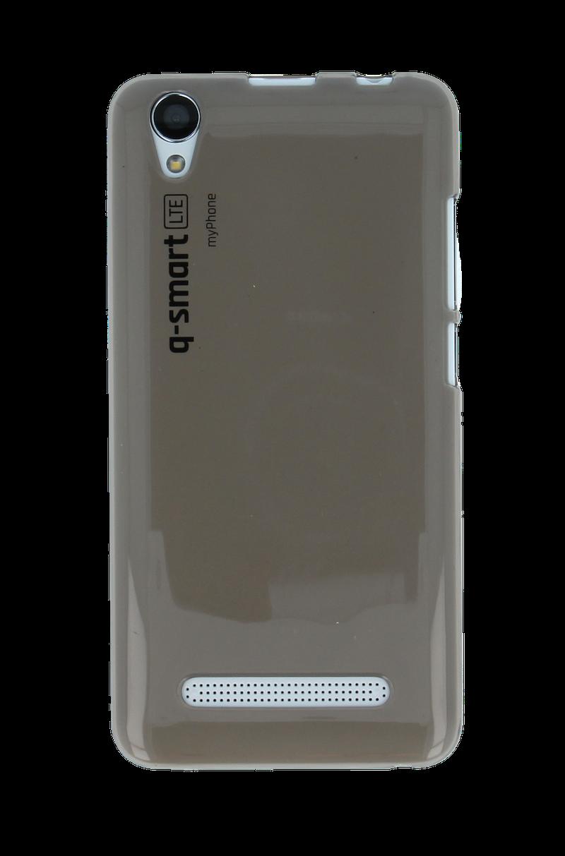 SILIKONOVÉ (TPU) POUZDRO TRANSPARENTNÍ HNĚDÉ PRO myPhone Q-SMART LTE