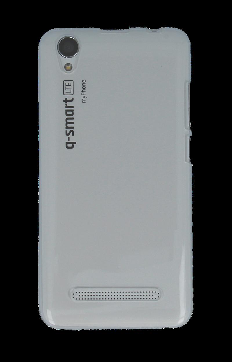 SILIKONOVÉ (TPU) POUZDRO TRANSPARENTNÍ BÍLÉ PRO myPhone Q-SMART LTE